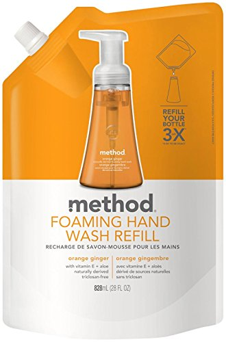 (Method Foaming Hand Wash Refill - Orange Ginger - 28 oz)