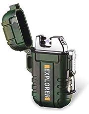 Double Arc Waterproof Windproof Outdoor Survival Camping Lighter