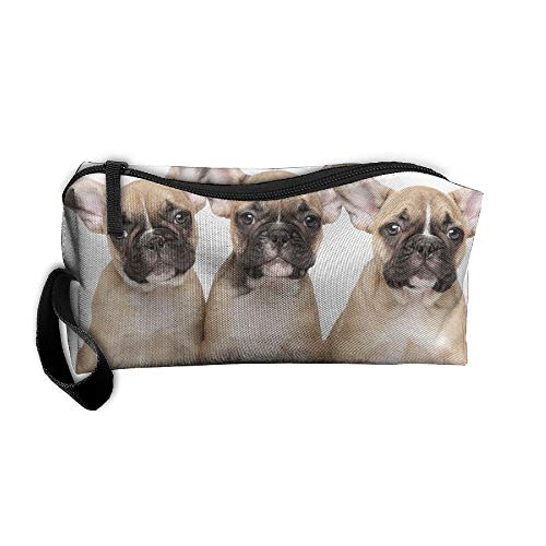 Jessent Coin Pouch French Bulldog Pen Holder Clutch Wristlet Wallets Purse Portable Storage Case Cosmetic Bags Zipper (Jessica Cleansers)