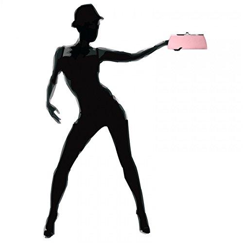 Caspar clásica mujer satén Clutch/bolso con gancho de metal elegante–Muchos colores–ta309, color rosa, talla talla única