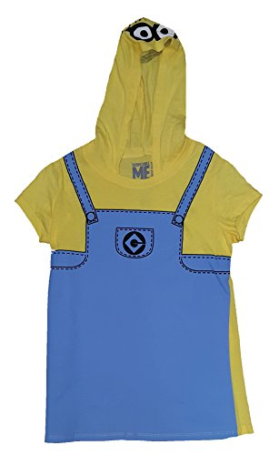 Halloween Juniors Despicable Me Minion Costume Hoodie Graphic T-Shirt - Medium -