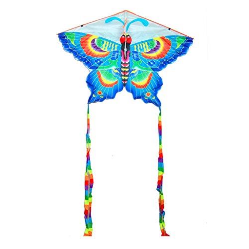 B&MF Kites Animal, Beginner Large Tail Long Butterfly Shape Kites Park Kites Three Dimensional, 155 280CM