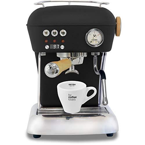 Ascaso Dream Up V3 Dark Black PID Wood Handle Semi-Automatic Espresso Machine - w/Set of Ascaso Cups
