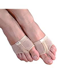 Professional Belly Ballet Dance Toe Pad Practice Shoes Protection Dance Socks Foot Thongs Foot Care (M size(US 5.5-6.5), Beige)