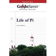 GradeSaver (TM) ClassicNotes Life of Pi: Study Guide