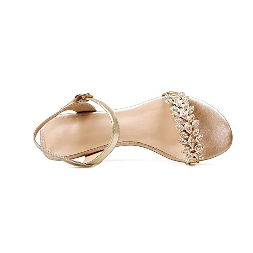 1TO9 Womens Open-Toe Engagement Blend Materials Sandals Gold 95jqI