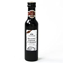 Acetum 1 Leaf Balsamic Vinegar of Modena IGP (250 ml) 4 Imported from Italy Acetum specializes in manufacturing quality Balsamic Vinegar of Modena This 1 Leaf has a higher viscosity than your average supermarket Balsamic