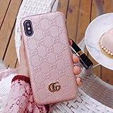 iPhone 8 Plus Case, Pink Premium PU Luxury Stylish Designer Fashion Leather Cover Case for iPhone 7 & 8 Plus