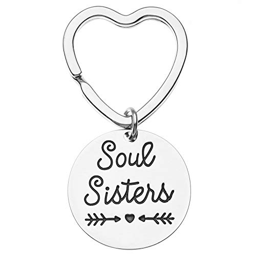 Soul Sisters Keychain, Best Friends Keychain- Friend Jewelry- Perfect Gift for Friends