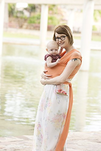 Beachfront Baby Wrap – Versatile Mesh Water & Warm Weather Baby Carrier | Made in USA with Safety Tested Fabric, CPSIA & ASTM Compliant | Lightweight, Quick Dry & Breathable (Coral Sea, OS)