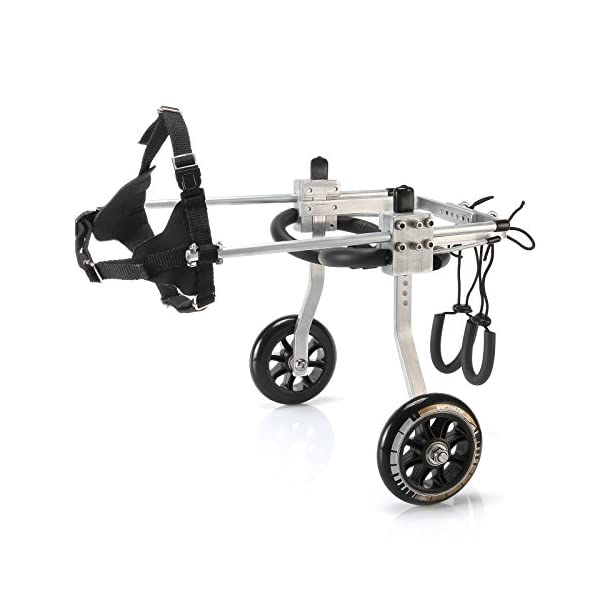 Anmas Sport Adjustable Dog Pet Wheelchair, Hind legs Rehabilitation (L-Hip Height: 13″-16″, Weight:20-40lbs) Click on image for further info. 5
