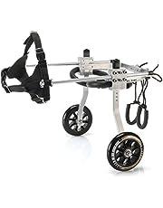 Dog Wheelchair for Back Legs, Aluminium Disabled Dog Assisted Walk Car Dog Cat Cart Wheels for Hind Legs Rehabilitation Pet Carts (S)