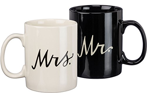 Primitives by Kathy Mr and Mrs 20 oz Coffee Mug Set (Murphy Moose)