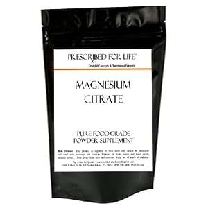 Magnesium Citrate - USP Powder Supplement - 12Oz