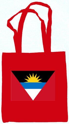 Antigua & Barbuda Flag Canvas Tote Bag Red