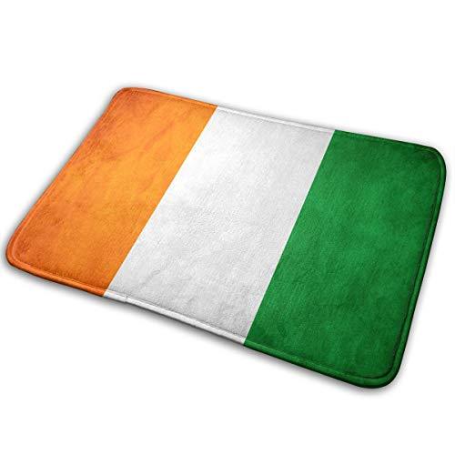 ZZATAA Flag of Ivory Coast Print Non-Slip Doormat Bath Mat Rug Halloween Decoration(15.75x23.62 Inch) -