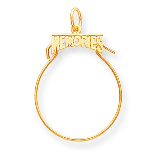 Findingking 14k gold memories charm holder