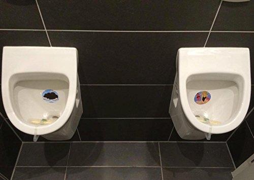 PEESIGN WC stickers auto-adh/ésif /à effets pour toilettes autocollants POMPIER jeu de urinoir