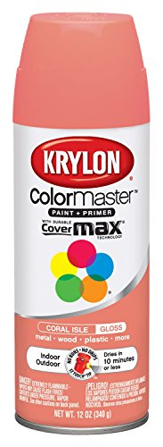 Coral Spray - Krylon K05210307 ColorMaster Paint + Primer, Gloss, Coral Isle, 12 oz.
