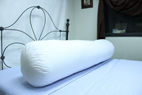 Soft King Sized White Poly/Cotton Cylinder Shaped Hypoallergenic Virgin Polyester Body Pillow