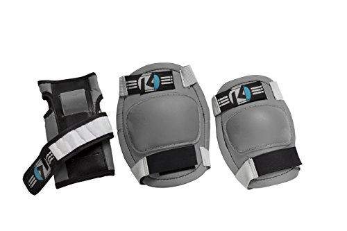 Kryptonics Starter Knee, Elbow, Wrist Pad Set - Grey -  160438