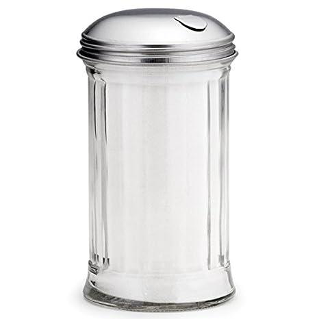 Dispensador de vidrio azúcar con centro para verter de 340 ml: Amazon.es: Hogar