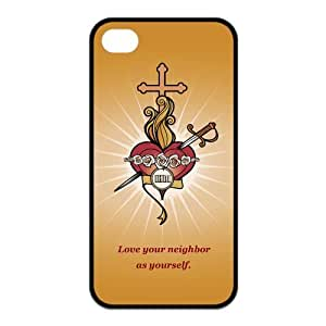 Custom Catholic Unique Iphone 4 4S Protective Rubber TPU cover