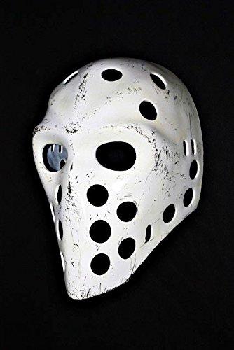 [1:1 Custom Vintage Fiberglass Roller NHL Ice Hockey Goalie Mask Helmet Richard Sevigny Worn Look HO05] (Hockey Mask For Sale)