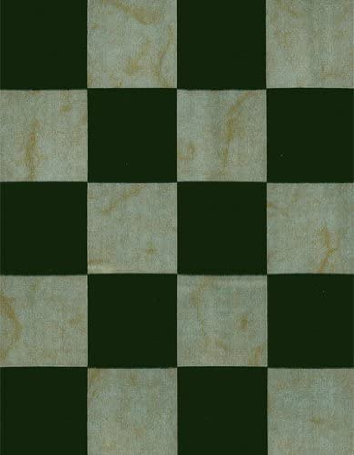 Amazon Com Marble Checkerboard 1 1 2 Squares Series Hunter Green Vinyl Tablecloth 54 X 75 Roll Kitchen Dining