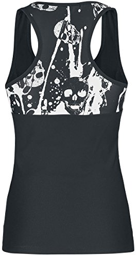 Outer Vision Bleached Skulls Top Mujer negro-blanco negro-blanco