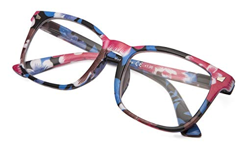 Fashion Ladies Readers Stylish Reading Glasses Women Clear Lens Floral Frame +2.5