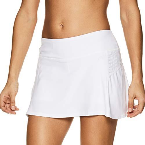 0333ddb008 HEAD Women's Athletic Tennis Skort - Performance Training & Running Skirt -  Fresh Mesh Stark White, Large