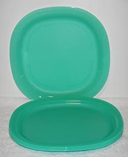 Tupperware Microwave Reheatable Luncheon Plates in Sea Green (SET OF 4) & Amazon.com | Tupperware 8 Inch Square Plates 4 Colors: Snack Plates ...