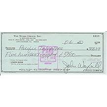 JOHN WAYBILL signed bank check