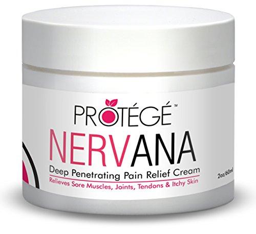 Soulagement de la douleur Crème Protege NERVANA pour un soulagement instantané de la douleur. Anti-inflammatoire gestion de la douleur. Revenir à la normale ou Remboursé