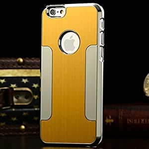 DD Brushed Aluminum Bumper Frame Case for iPhone 6 Plus (Assorted Colors) , Golden