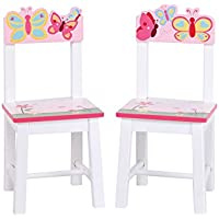 Guidecraft Wood Hand-painted Butterfly Buddies Extra Chairs (Set of 2) G86603