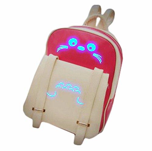 rare Schultertasche Tasche Shoulder Bag Rucksack reisetaschen Rosa Schnurrhaare Glow Dark Totoro new