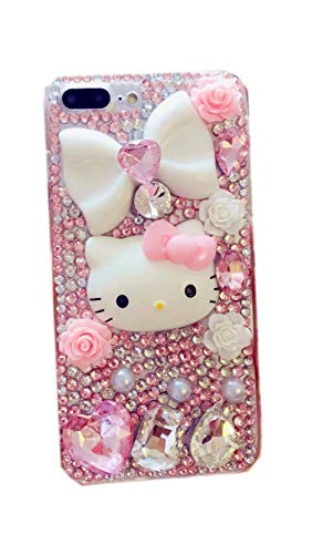 DVR 4000 iPhone Xs Bling Case,iPhone Xs Cat Case,100% Handmade Shining Sparking Gemstone Luxury Bling Glitter Diamond Crystal Rhinestone Protective Cover Case for iPhone X/Xs 5.8-inch,NO2