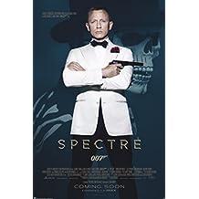 James Bond Spectre 007 Spy Film Movie Daniel Craig Tuxedo Skull One Sheet Credits Poster - 24x36