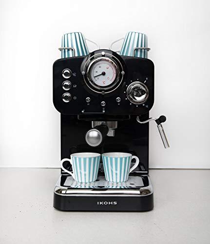 IKOHS THERA RETRO - Macchina del Caffè Express per caffè espresso e cappuccino, 1100 W, 15 bar, vaporizzatore regolabile… 3
