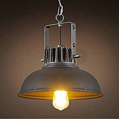 Industrial Edison Vintage Pendant Lighting-LITFAD Rustic Barn Metal Pendant Chandelier Mounted Light Fixtures