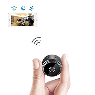 Spy Camera Wireless Hidden WiFi Camera AREBI HD 1080P Mini Camera Portable Home Security Cameras Covert Nanny Cam Indoor Video Recorder Small Camcorder with Motion Activated/Night Vision A10 Plus by AREBI