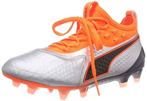 Silver Fg Bambini Lth 1 01 shocking Unisex Jr Orange Black puma Puma ag – Scarpe One Da Calcio Argento puma cSPgHR6