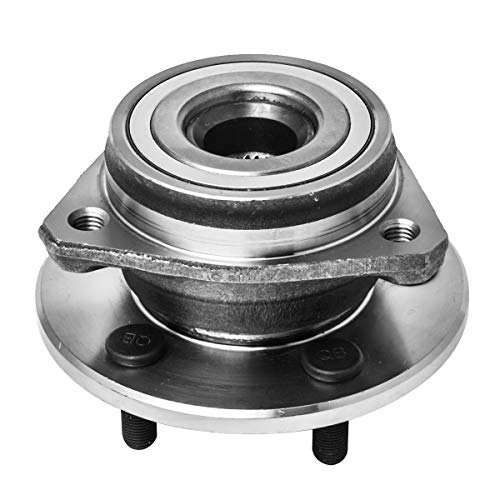 Jeep Cherokee Front Hub - Front Wheel Hub and Bearing Assembly Left or Right Compatible Jeep Grand Cherokee Comanche Wagoneer Wrangler TJ YJ AUQDD 513084 [ 5 Lug ]