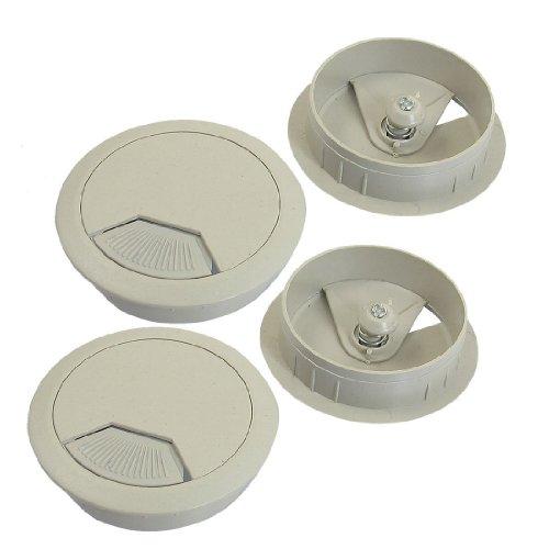 Andifany 5cm diametro pasacables gris claro Cubierta de cable de agujero para escritorio de computadora 4 piezas ++
