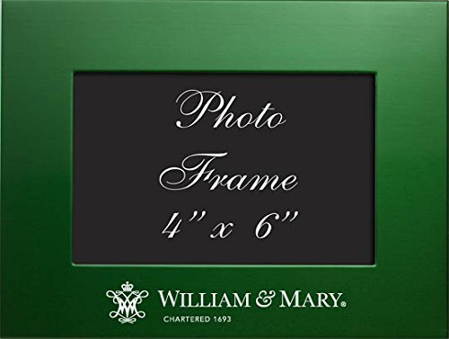 College of William & Mary - 4x6 Brushed Metal Picture Frame - Green