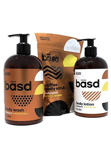 Creme Brulee Sugar Scrub - Basd | Organic Body Lotion | Natural Body Wash | Exfoliating Coffee Body Scrub | Indulgent Crème Brulee | 3 Pack