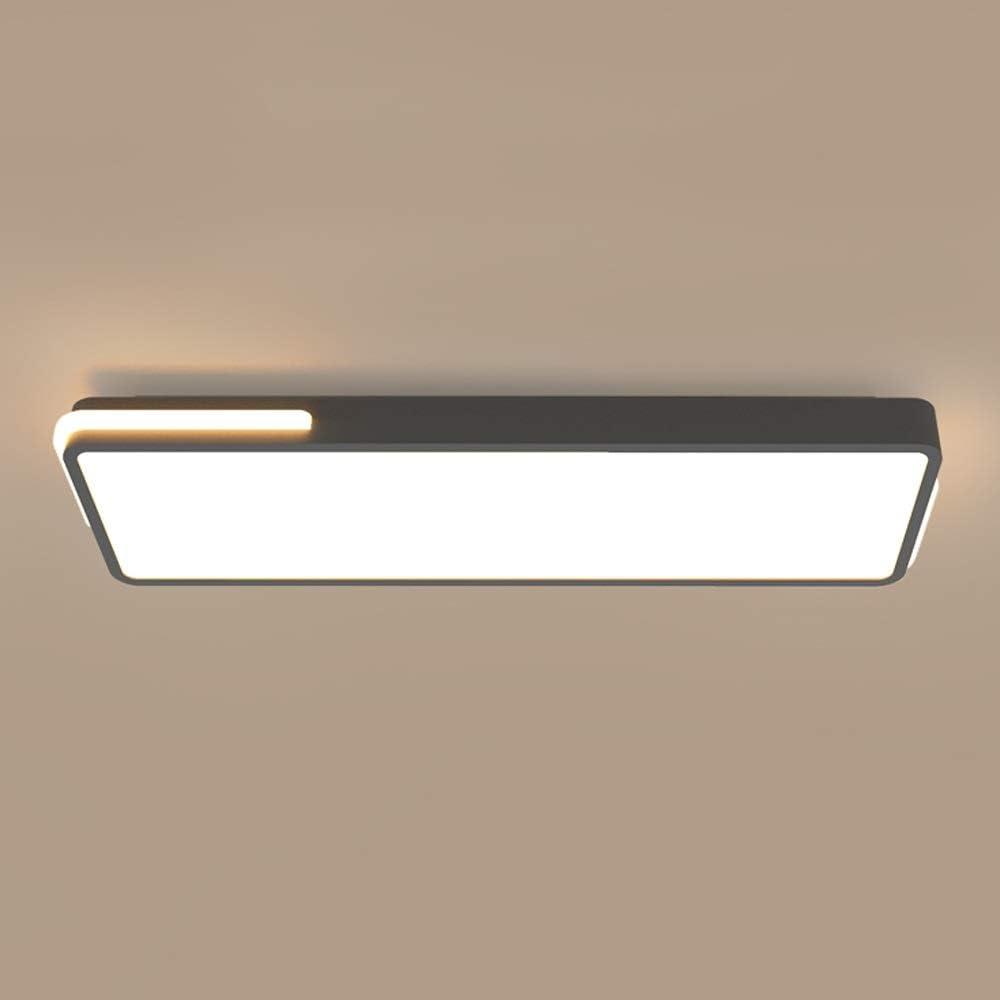 Aiqiyi Plafonnier LED Corridor Style Nordique Plafonnier Plafonnier Moderne Minimaliste Personnalité Allée Balcon Creative Design Plafonnier Rectangulaire Blanc Lumière (Couleur: Noir)