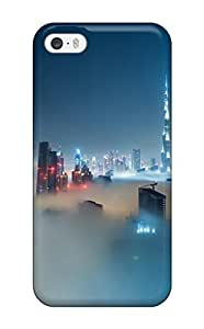 Top Quality Rugged Dubai Skyline Covered In Fog Iphone 5 Case Cover For Iphone 5/5s